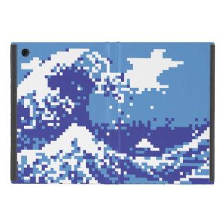 Bit-Pixel-Kunst des Pixel-Tsunami-Blau-8 Schutzhülle Fürs iPad Mini