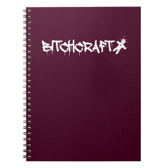Bitchcraft - Voodoo Doll Witchcraft Halloween Spiral Notizblock
