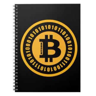 Bitcoin alphanumerische Zahlen Spiral Notizblock