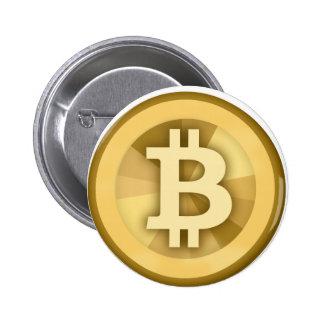 BITCOIN anonyme GELD-DIGITAL-Währung BTC Runder Button 5,1 Cm