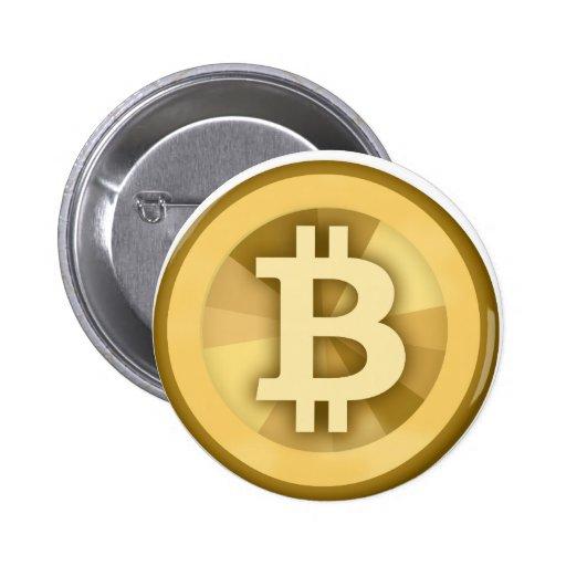 BITCOIN anonyme GELD-DIGITAL-Währung BTC Anstecknadelbutton
