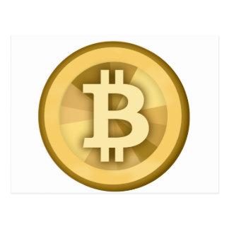 BITCOIN anonyme GELD-DIGITAL-Währung BTC Postkarte