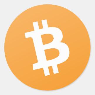 Bitcoin Bargeld-Aufkleber Runder Aufkleber