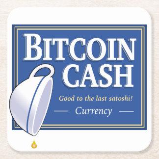 Bitcoin Bargeld-Untersetzer Rechteckiger Pappuntersetzer