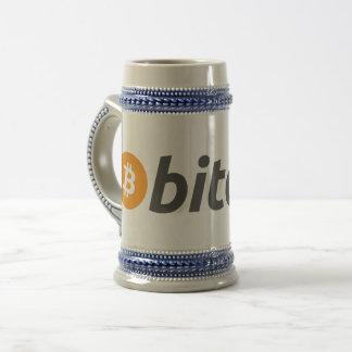 Bitcoin Bier Stein Bierglas