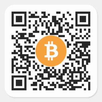Bitcoin (BTC) Code-Aufkleber Geldbörsen-QR -