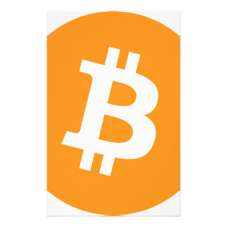 Bitcoin BTC cryptocurrency Briefpapier