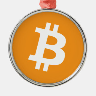 Bitcoin - Cryptocurrency Alliance Silbernes Ornament