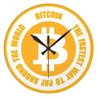 Bitcoin die schnellste Weise, auf der ganzen Welt Große Wanduhr
