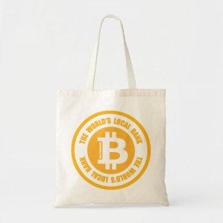 Bitcoin die Weltörtliche Bank Tragetasche