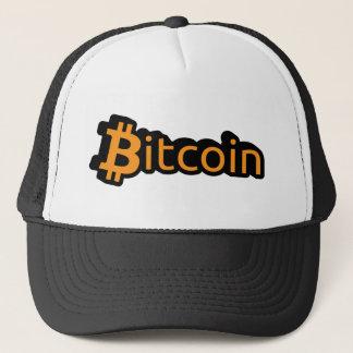 Bitcoin Dollar Schrift Truckerkappe