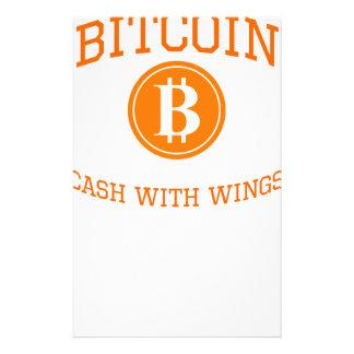 Bitcoin Flügel Briefpapier