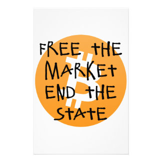 Bitcoin - geben Sie das Markt-Ende der Staat frei Briefpapier