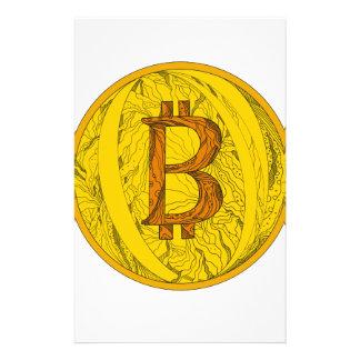 Bitcoin Gekritzel-Kunst Briefpapier