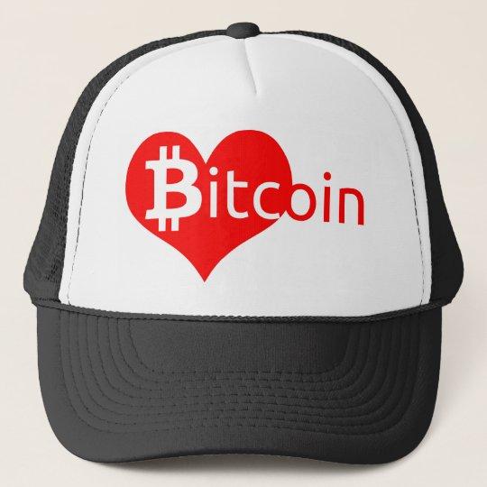 Bitcoin Herz Truckerkappe