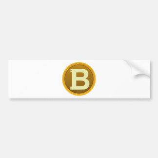 Bitcoin Ikone Autoaufkleber