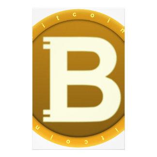 Bitcoin Ikone Briefpapier