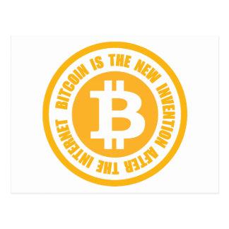 Bitcoin ist die neue Erfindung nach dem Internet Postkarte