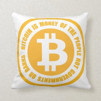 Bitcoin ist Geld der Leute-nicht Regierungen Kissen