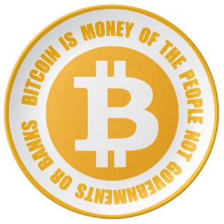 Bitcoin ist Geld der Leute-nicht Regierungen Porzellanteller