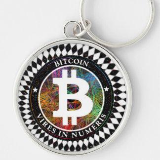 Bitcoin Keychain Cryptocurrency Digital Kunst Schlüsselanhänger