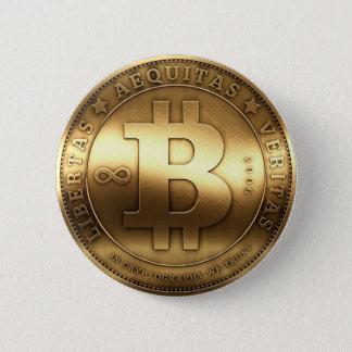 Bitcoin Knopf Runder Button 5,1 Cm