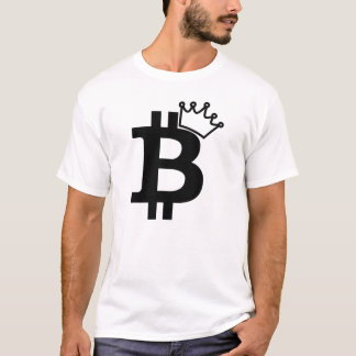 Bitcoin König Black Logo Design T-Shirt