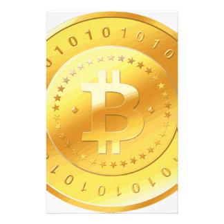 Bitcoin Logo Briefpapier
