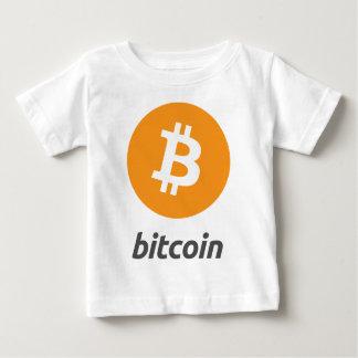 Bitcoin Logo mit Schrift Baby T-shirt