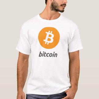 Bitcoin Logo mit Schrift T-Shirt