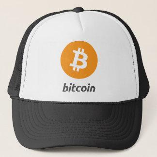 Bitcoin Logo mit Schrift Truckerkappe