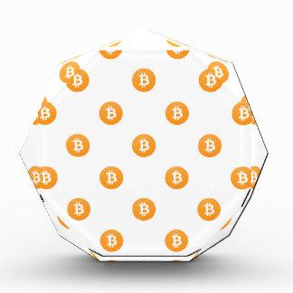 Bitcoin Logo-Muster Auszeichnung