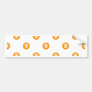 Bitcoin Logo-Muster Autoaufkleber