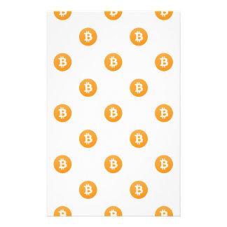Bitcoin Logo-Muster Briefpapier