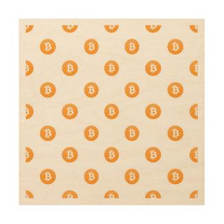 Bitcoin Logo-Muster Holzdruck