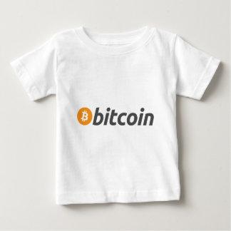 Bitcoin Logo Schrift Baby T-shirt
