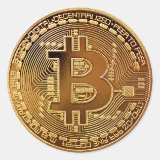 Bitcoin Logo-Symbol Cryptocurrency Runder Aufkleber