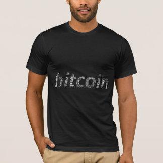 Bitcoin Logo wordart Grafiken T-Shirt