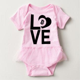BITCOIN/LOVE-Onsie Baby Strampler