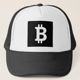 Bitcoin quadratisches Schwarzweiss Truckerkappe