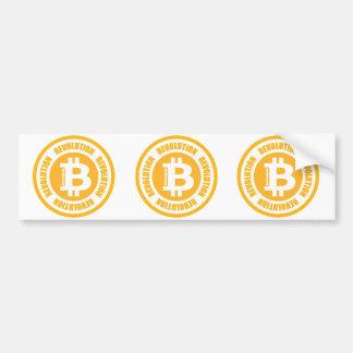 Bitcoin Revolution (englische Version) Autoaufkleber