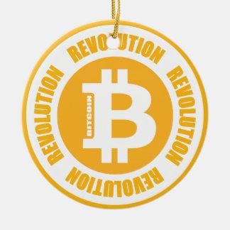 Bitcoin Revolution (englische Version) Keramik Ornament