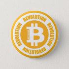 Bitcoin Revolution (englische Version) Runder Button 5,1 Cm