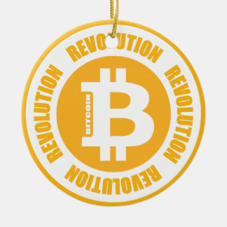 Bitcoin Revolution (englische Version) Rundes Keramik Ornament