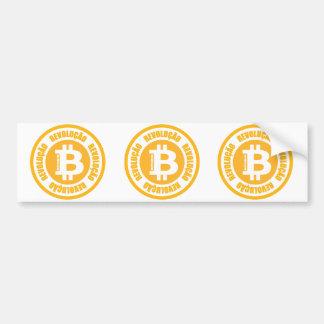 Bitcoin Revolution (portugiesische Version) Autoaufkleber