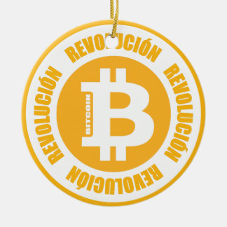 Bitcoin Revolution (spanische Version) Keramik Ornament