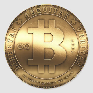 Bitcoin Runder Aufkleber