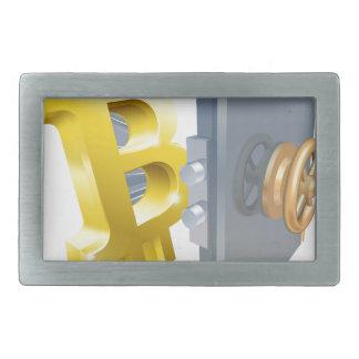 Bitcoin Safe-Illustration Rechteckige Gürtelschnalle