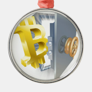 Bitcoin Safe-Illustration Silbernes Ornament