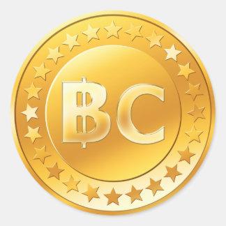 Bitcoin (Satz von 6/20) Runder Aufkleber